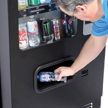 Drink / Soda Product Delivery on 10 Selection Drink / Soda Vending Machine - 450×450